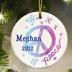 Personalized Kids Christmas Ornament
