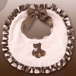 Personalized Pink Posh Bear Bib
