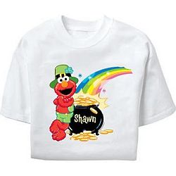 Personalized St Patrick's Day Elmo Youth T-Shirt