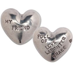 My Friend Hand-Crafted Pewter Heart
