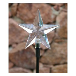 Color Changing 5 Point Star Solar Stake Light