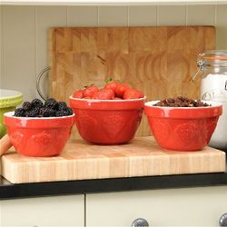 Strawberry Mason Cash Nesting Bowls