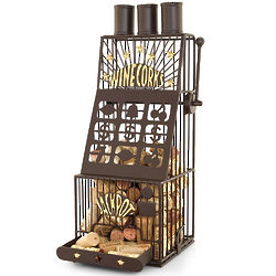 Viva Las Vegas Slot Machine Wine Cork Cage