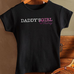 Daddy's Girl Personalized Youth Fitted T-Shirt