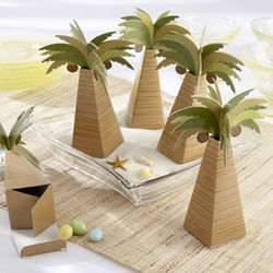 3-D Palm Tree Favor Boxes