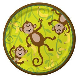 Monkeyin' Around Paper Luncheon Plates