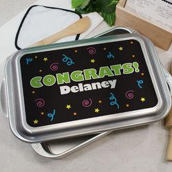 Personalized Congrats Cake Pan