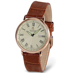 World's Thinnest Calendar Watch in Rose or Black