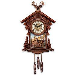 Woodland Heritage Deer Art Cuckoo Clock