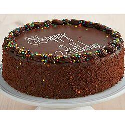 Personalized Three Layer Chocolate Birthday Cake