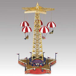 World's Fair Parachute Ride Animated Music Box