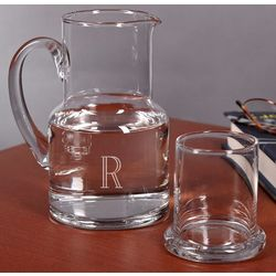 Personalized 2-Piece Glass Carafe Set
