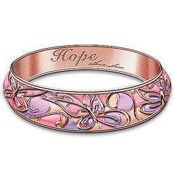 Garden of Hope Breast Cancer Awareness Bangle