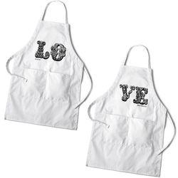 LOVE Personalized White Apron Set
