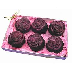Rose Shaped Brownie Gift Box