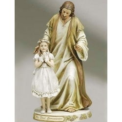 First Communion Jesus Figurine with Girl