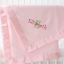 Satin Bundle Pink Fleece Baby Blanket