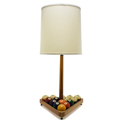 Vintage Pool Ball and Cue Lamp