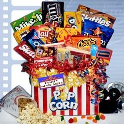 Family Movie Night Gift Basket Findgift Com