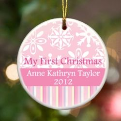 Personalized My First Christmas Ornament