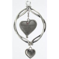Engravable Granddaughter Pewter Heart Ornament