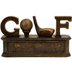 Sculptural Golf Box in Bronze