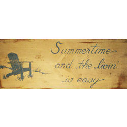 """Summertime and The Livin' is Easy"" Adirondack Wood Sign"