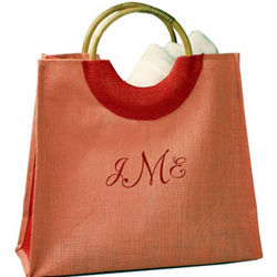 Personalized Pink Shopping Bag