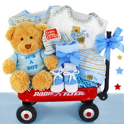 Personalized It's a Boy Wagon Gift Basket