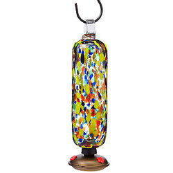 Glass Confetti Hummingbird Feeder