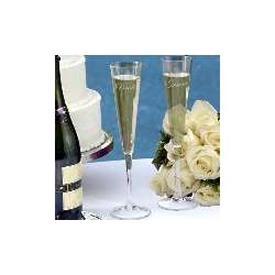 Bride And Groom Toasting Flute Set