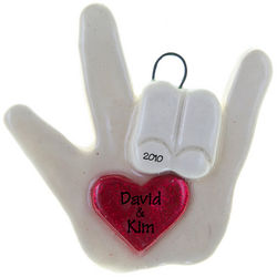 Personalized Love You Sign Language Ornament