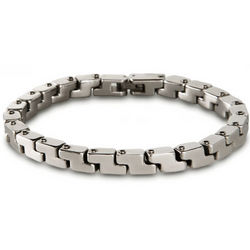 Men's Stainless Steel Zig Zag Bracelet