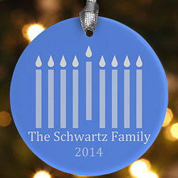 Personalized Hanukkah Menorah Ornament