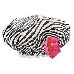 Bath Diva Zebra Print Shower Cap
