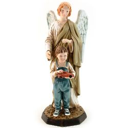 Praying Angel with Boy Statue