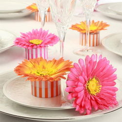 Gerber Daisy Striped Favor Boxes