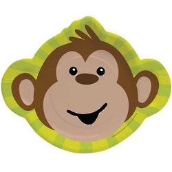 "Monkeyin' Around 11.75"" Paper Dinner Monkey Plates"