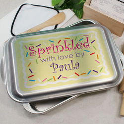 Personalized Sprinkled with Love Cake Pan
