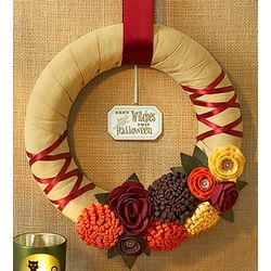 Handmade Harvest Halloween or Thanksgiving Wreath