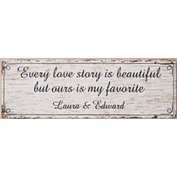 Every Love Story Personalized Canvas Wall Art
