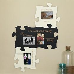 Personalized Family Painted Puzzle Wall Plaque