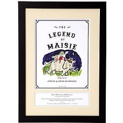Personalized Legend Storybook Art Framed Print