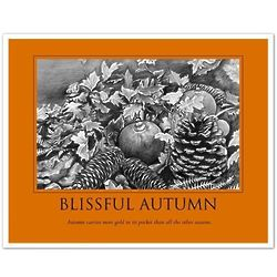 Personalized Blissful Autumn Pencil Sketch 8x10 Print