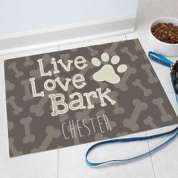 Personalized Dog Bone Pet Mat