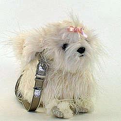 Maltese Life-Like Dog Shaped Purse