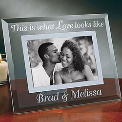 This is What Love Looks Like Glass Photo Frame