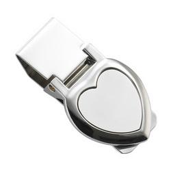 Personalized 2 Tone Heart Money Clip
