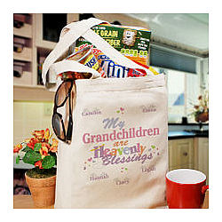 Heavenly Blessings Canvas Personalized Tote Bag
