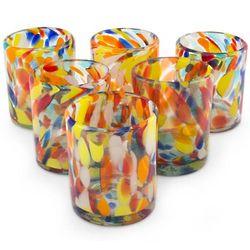 Liquid Confetti Blown-Glass Tumblers